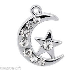 Wholesale-Lots-Silver-Tone-Rhinestone-Moon-Charm-Pendants