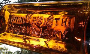 TUMBLED-1890-039-S-ANTIQUE-WINTERSMITH-LOUISVILLE-KENTUCKY-MEDICINE-BOTTLE