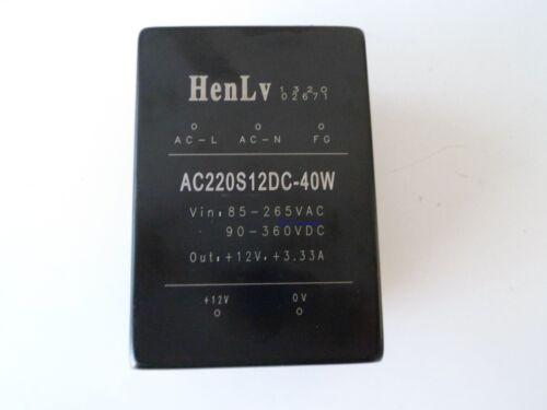 HenLv Netztrafo AC220S12DC-40W 12V 3333mA *Gebraucht*
