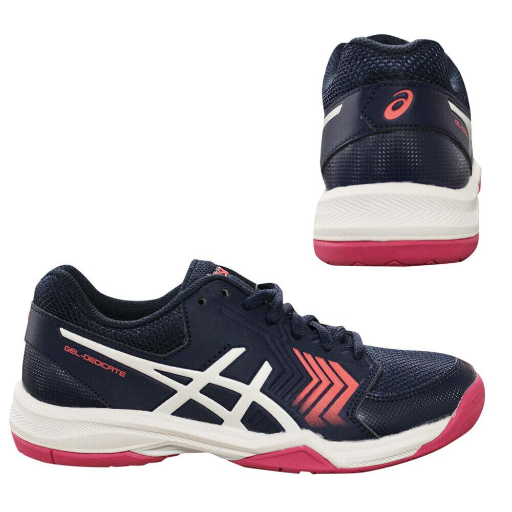 Asics Gel-Dedicate 5 Femme Chaussures De Tennis À Lacets Baskets Bleu Marine E757Y 4901 Q5A