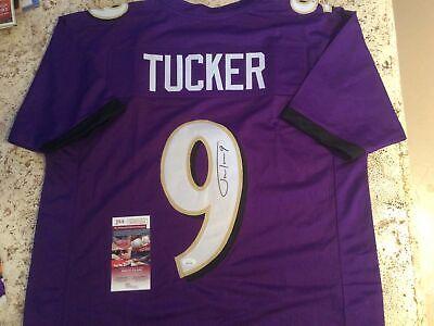 Justin Tucker Autographed Baltimore Ravens Jersey Certified JSA | eBay