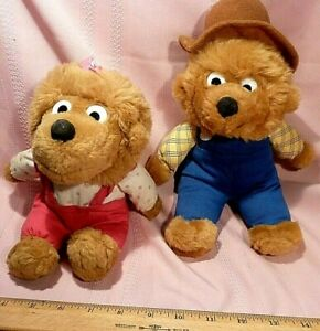 Berenstain-Bears-Cute-Pair-PaPa-Bear-11-034-Sister-Bear-9-034-Excellent-Condition