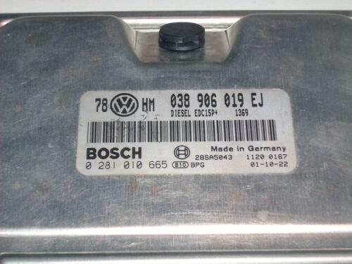 Motorsteuergerät Passat 3BG 038906019EJ 1,9TDi AVB 0281010665 ECU SKODA Superb //