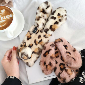 Bunny-Rabbit-Fur-Plush-Fuzzy-Fluffy-Soft-Phone-Case-Cover-For-iPhone-XS-Max-XR-X