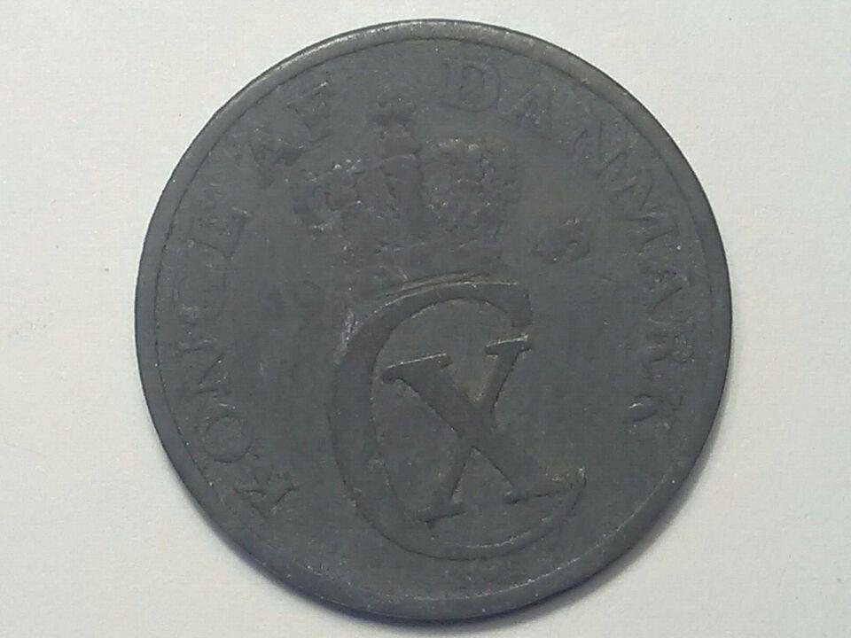 Danmark, mønter, 2 øre