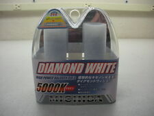 H4 9003 HB2 5000K 55/65w DIAMOND WHITE HIGH PERFORMANCE XENON HALOGEN BULBS PAIR