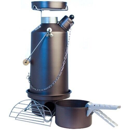 FULL KIT  1.5ltr Hard Anodised Camping Ghillie Kettle With Pans (our ref 5)