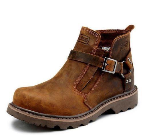 2016 schuhe Größe Outdoor Stiefel Herren Braun Leder Stiefeletten Größe schuhe 39-44 Schuhe NEU 005473