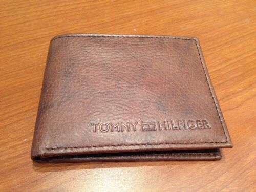 AUTHENTIC BRAND NEW TOMMY HILFIGER LEATHER WALLET  BROWN NO BOX.................