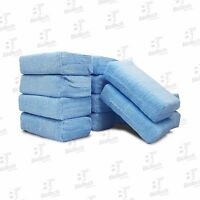 Microfiber Wax Applicator Sponge/ Blue Wax Applicator 4 X 6 (12 Units/ 1 Pack)