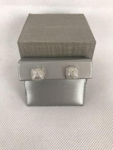 Zales Coussin Halo Diamant Boucles d/'oreilles $119 Retail