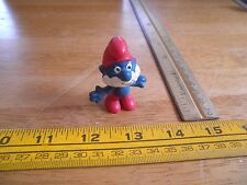 Smurf figure 1989 Papa Red pants hat VINTAGE Schleich Hong Kong