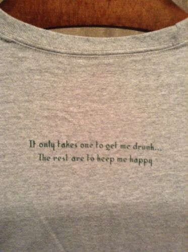 Details about  /Hooligans~Put-In-Bay~It Only Takes One To Get Me Drunk~Men Unisex Medium T-Shirt