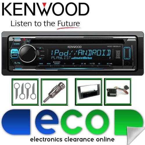 Ford Transit 2006-14 KENWOOD CD MP3 AUX USB Black Fascia Car Stereo Upgrade Kit