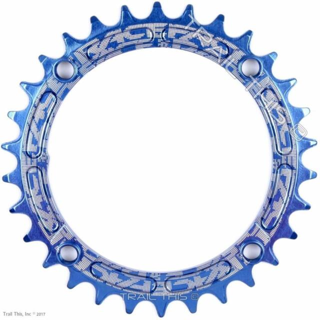 RaceFace Blue Narrow-Wide 30,32,34,36,38T x 104 MTB Chainring 9 10 11 12-Speed