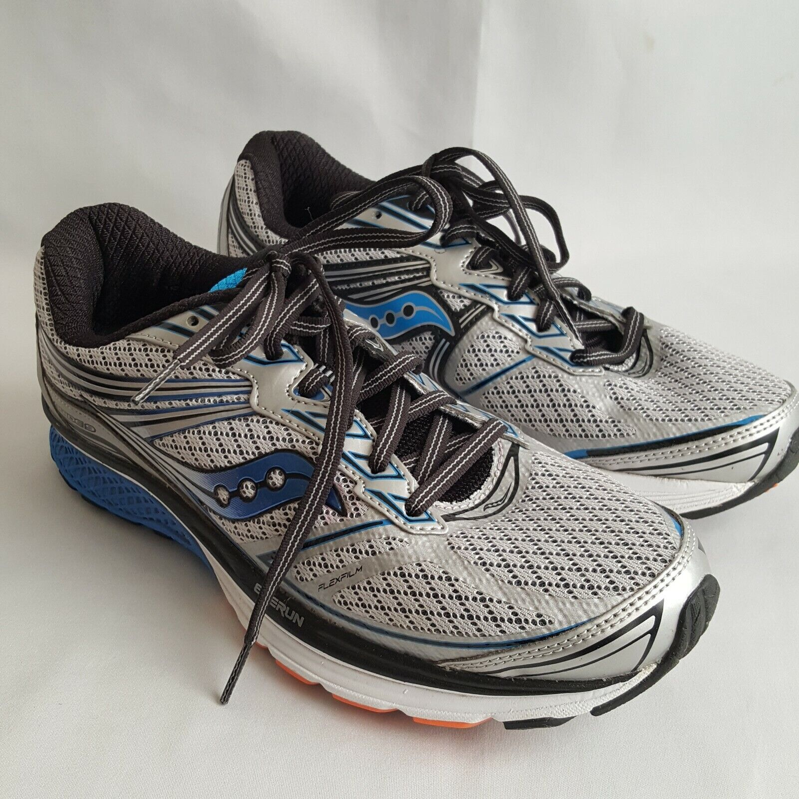 Saucony Guide 9 Men US 7.5 Silver Grey bluee Running shoes