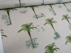 DIGITAL-Designer-Tropical-Palm-Tree-Cotton-Curtain-Fabric-Upholstery