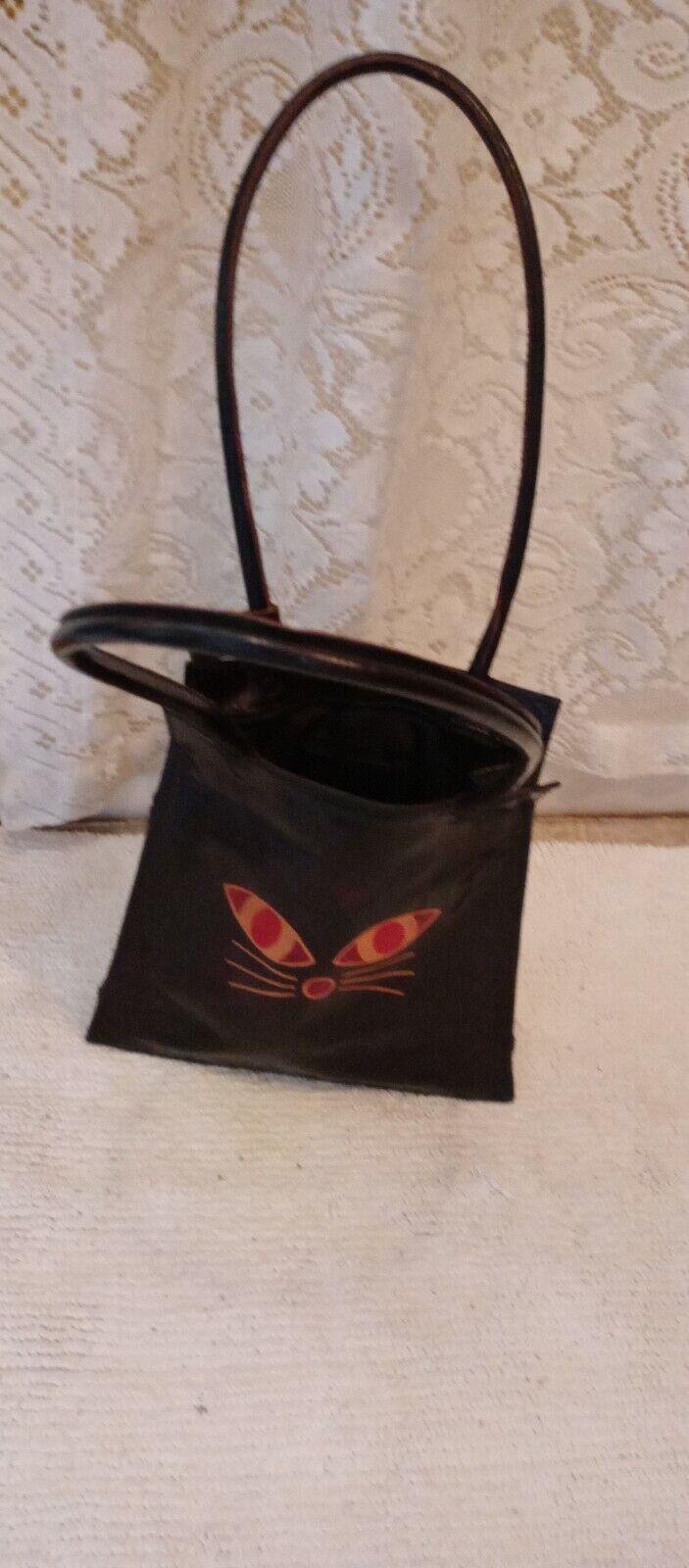 BLACK CAT purse bag.  All leather.   - image 2