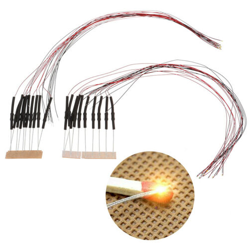 10x 20cm t0603wm pre-soldered micro 0.1mm copper wired white smd led 0603 J ``