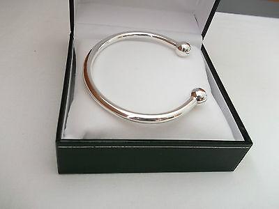 New Mens Heavy Solid Silver 34g Torque Bangle Bracelet