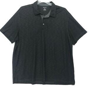 Van-Heusen-Polo-Golf-Shirt-Mens-XXL-2XL-Rayon-Blend-SS-Gray-Black-Heathered-SOFT