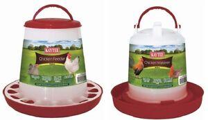 Kaytee Chicken Feeder/Waterer Combo Medium Handle,Assorted Colors