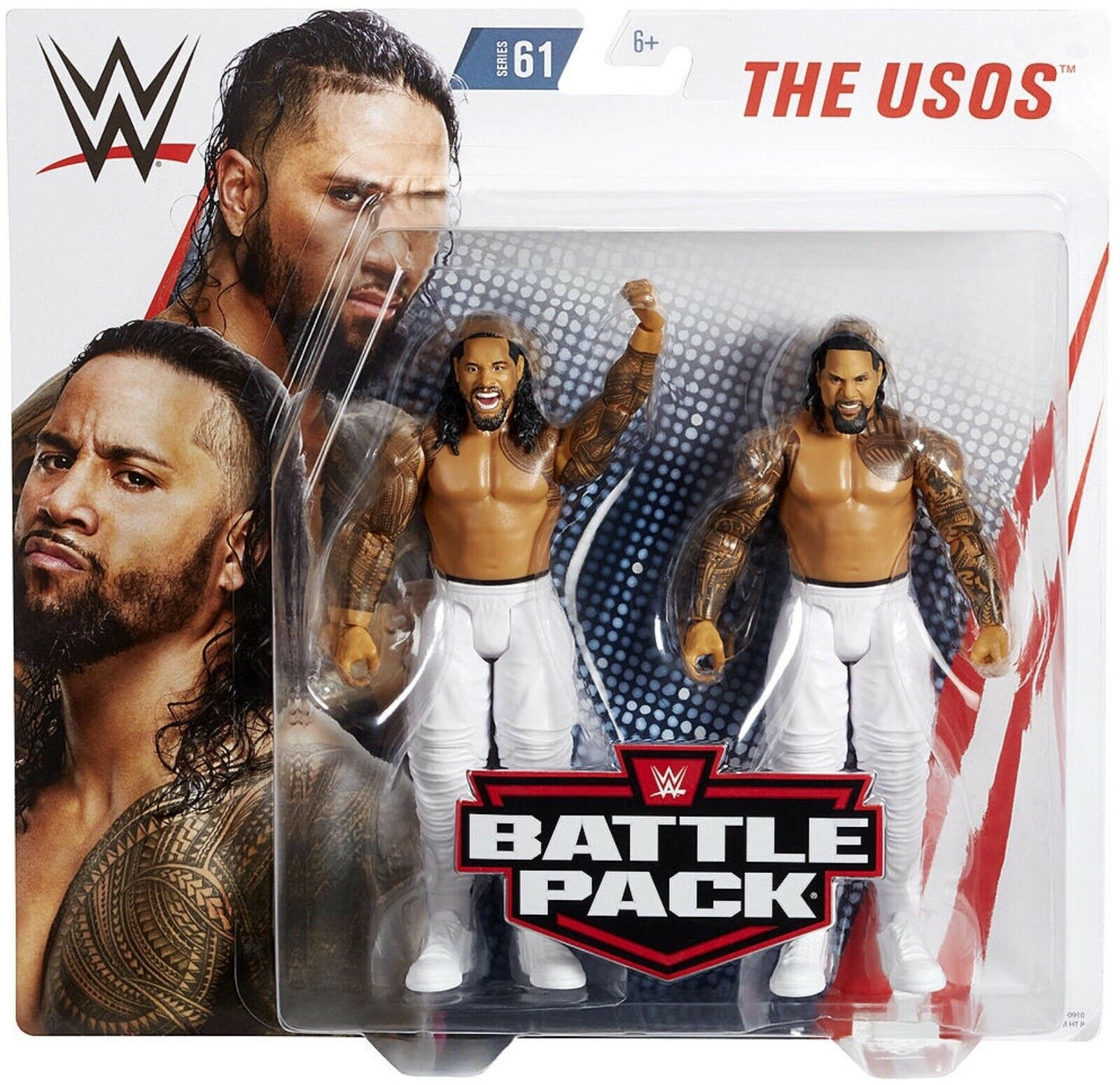 Wwe The Usos Jimmy & Jay Uso Jey battaglia Pack Serie 61 mattel Wrestling cifra