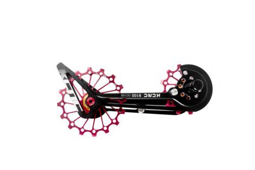 KCNC Road Bicycle Bike Oversized Pulley Wheel OSPW for Shimano r9100//r8000 Red