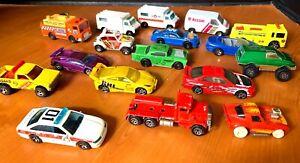 Mattel-Hot-Wheels-Matchbox-lot-17-cars-trucks-vans-classics-semis-pick-ups-more