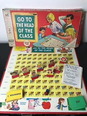 Vintage 1967 Milton Bradley GO TO THE HEAD OF THE CLASS Board Game Series 14 | eBay