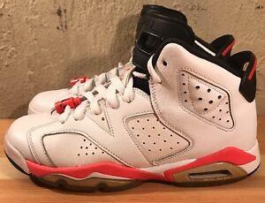 Preowned Air Jordan 6 Retro Youth 384665-123 White Infrared Size 6Y ... 22e5e4c070
