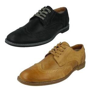 Hommes Thomas Blunt Lacet Bout Rond Cuir Smart Habillé Chaussures Brogues A2R141