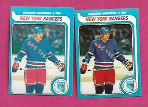 1979-80-TOPPS-OPC-240-RANGERS-ANDERS-HEDBERG-NRMT-MT-CARD-INV-C0439