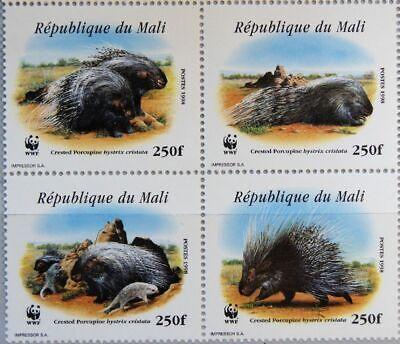Analytisch Mali 1998 1974-71 I A 918 Wwf Stachelschwein Crested Porcupine Fauna Mnh