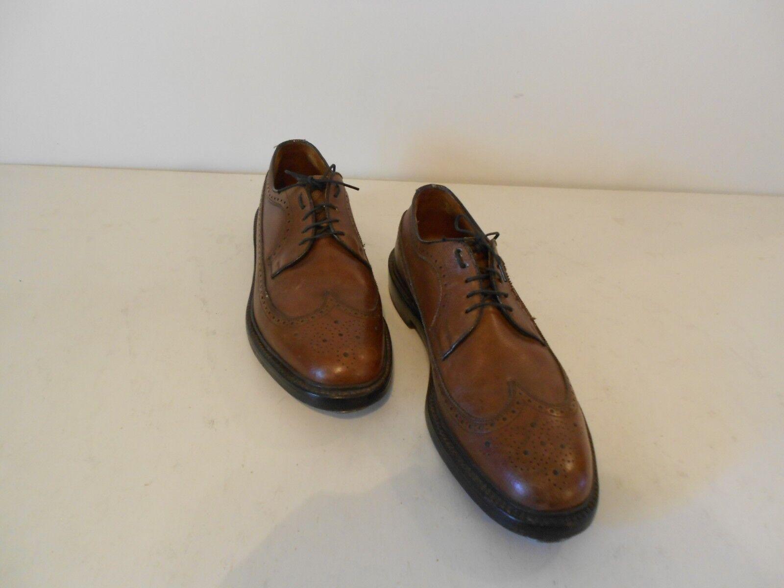il più recente Uomo Foot Joy Wing Tip scarpe Caramel Marrone Leather Leather Leather Heel Cleat & Toe Guard 9.5 B  migliore offerta