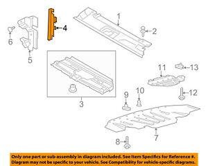 FORD OEM 13-16 Fusion Splash Shield-Air Deflector Left DS7Z8311A