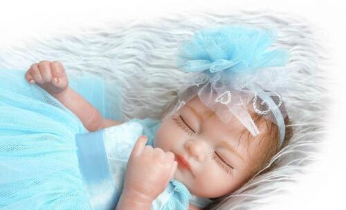 10/'/' Reborn Baby Girl Dolls Lifelike Newborn Bebe Full Body Vinyl Toys Kids Gift