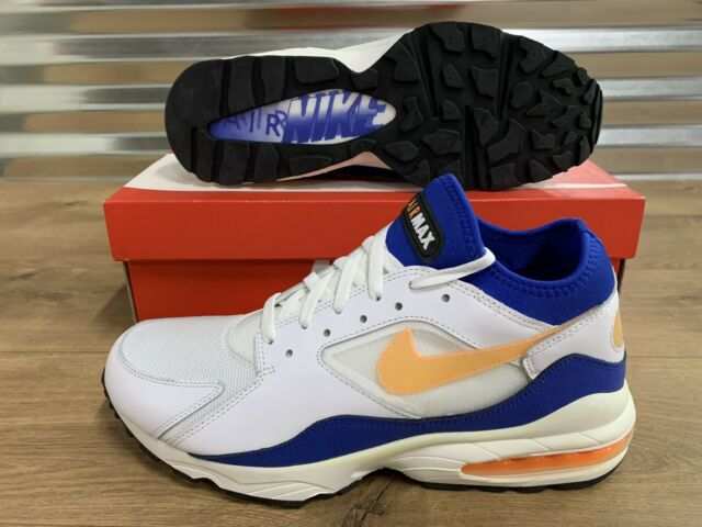 Nike Air Max '93 OG Shoes White Bright Citrus Orange Blue SZ 11 ( 306551 100 )