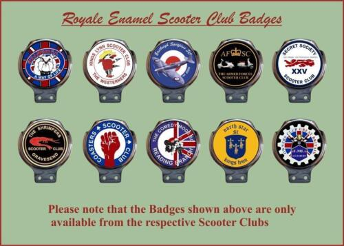 Royale Enamel Club Bar Badge Your Club Logo No minimum order Vespa Lambretta