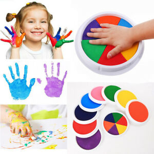 Learning-Hand-Print-Cardmaking-Ink-Pad-Stamp-Drawing-Toys-Finger-Painting