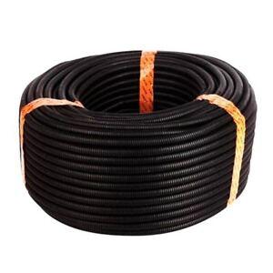 25-Ft-Split-Wire-Loom-Conduit-Polyethylene-Tubing-Black-Color-Sleeve-Tube-G7E6