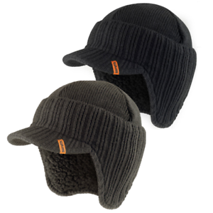 23314c39bdf Image is loading SCRUFFS-PEAKED-BEANIE-HAT-INSULATED-WARM-OUTDOOR-KNITTED-