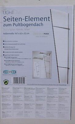 Diskret Polymer Lightline Seitenteil 167 X 62 X 32 Cm Pultbogenvordach Acryl Klar 170930 Heimwerker
