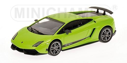 LAMBORGHINI Gallardo lp570-4 SUPERLEGGERA 2010 verde 1 43 MODEL MINICHAMPS