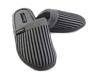 Mens-Slippers-Grosby-Hoodies-SCUFF-Grey-Black-Slipper-Scuffs-Size-S-M-L-XL