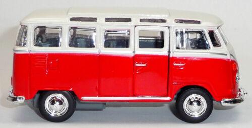 VW Bus descubrimos t1 samba rojo//blanco maqueta de coche aprox 1:40 de mercancía nueva maisto en OVP