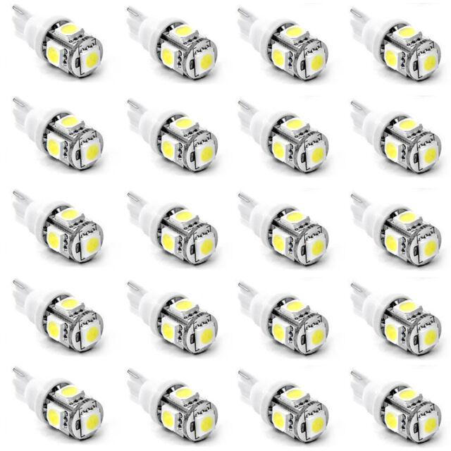 T10 5050 SMD 5 LED Wedge Car White Light Bulb 194 168 W5W 12V 20X HOT
