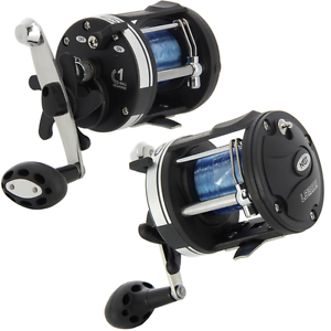 2 x NGT LS3000 MULTIPLIER SEA FISHING REEL WITH 25LB blueE LINE BOAT FISHING REEL