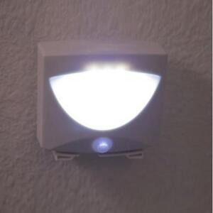 3 led indoor motion sensor activated mighty light outdoor. Black Bedroom Furniture Sets. Home Design Ideas