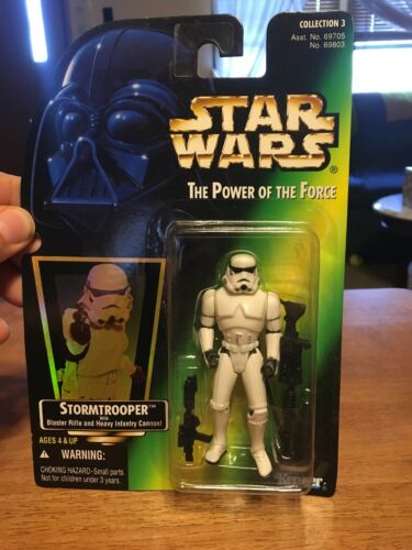 Star Wars Power of the Force Stormtrooper carte verte Hologramme 69803 Power of the force
